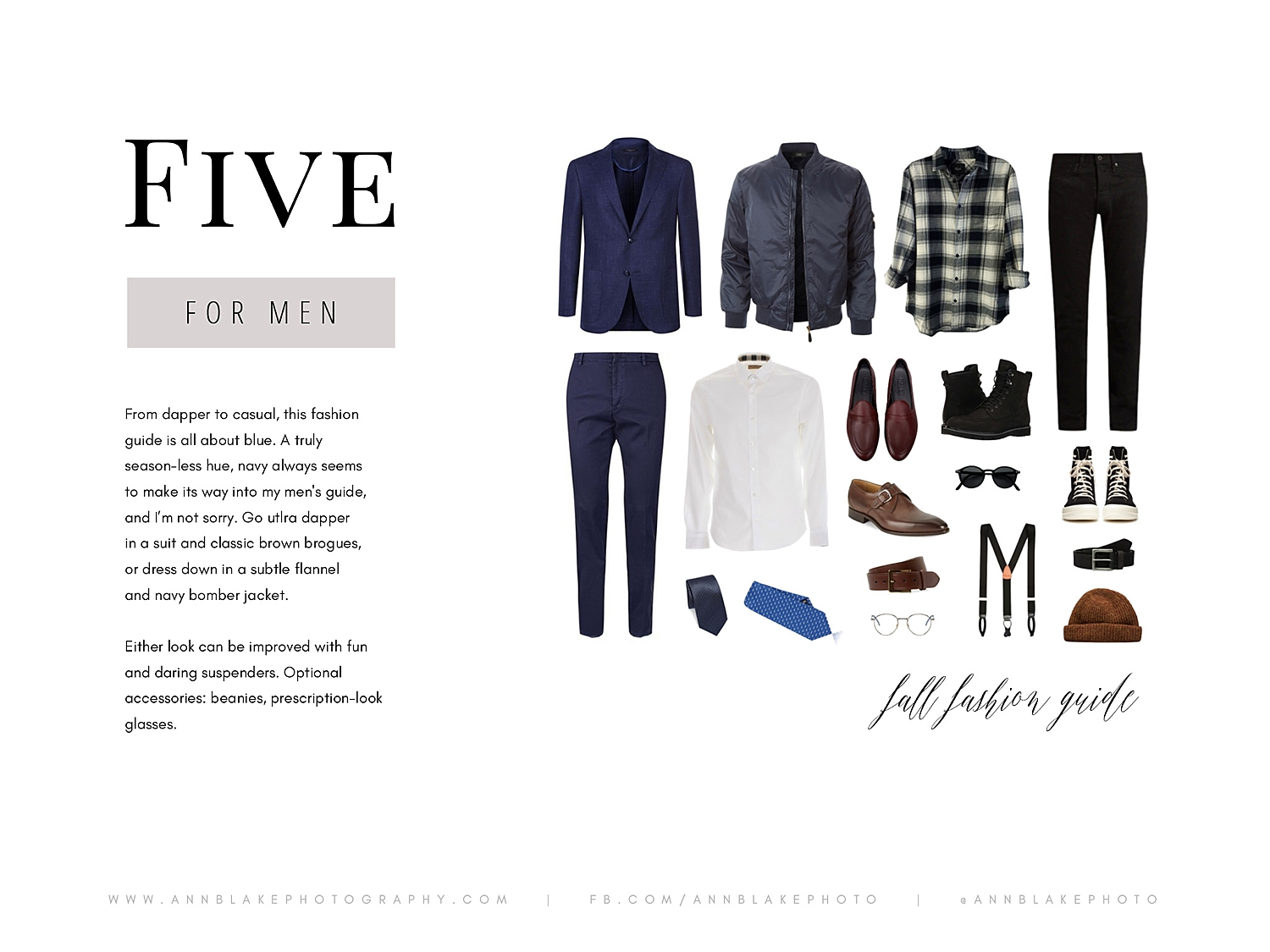mens fall fashion guide for portraits with ann blake photography