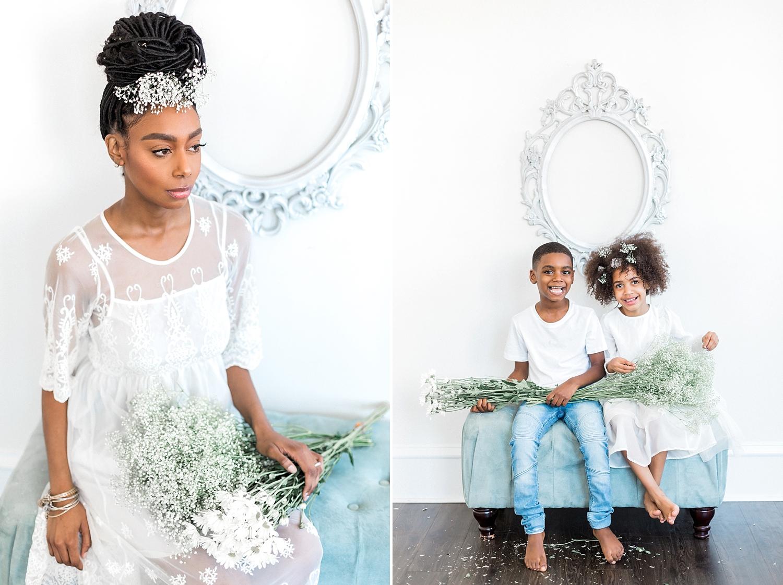 flower crown portrait session with philadelphia makeup artist erica nikole