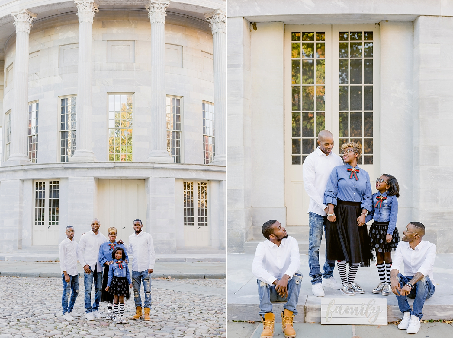 holiday family session in downtown philadelphia