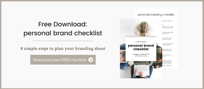free checklist download for planning a branding shoot